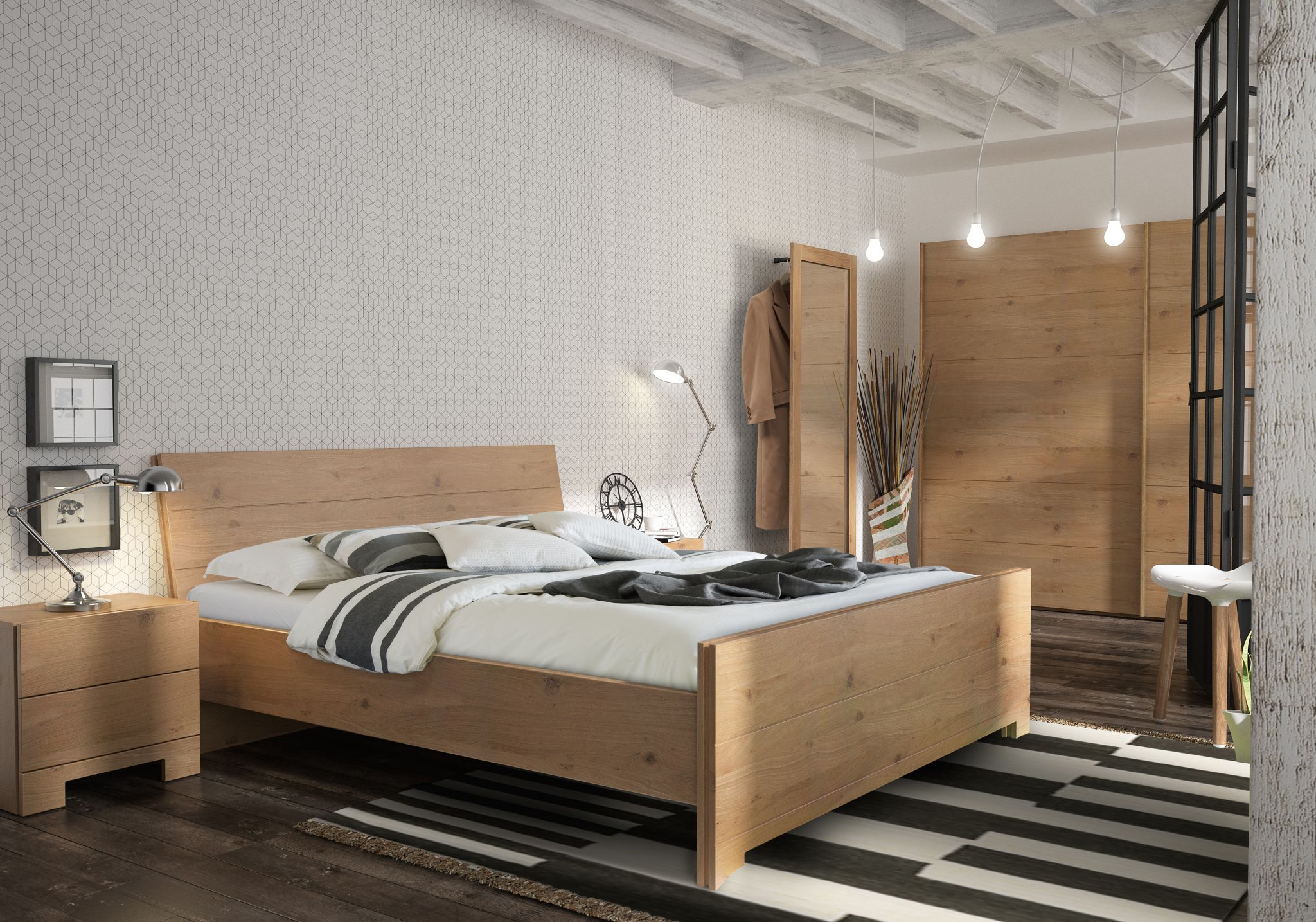 chambre coucher rustique m17ed meubelen joremeubelen jore. Black Bedroom Furniture Sets. Home Design Ideas