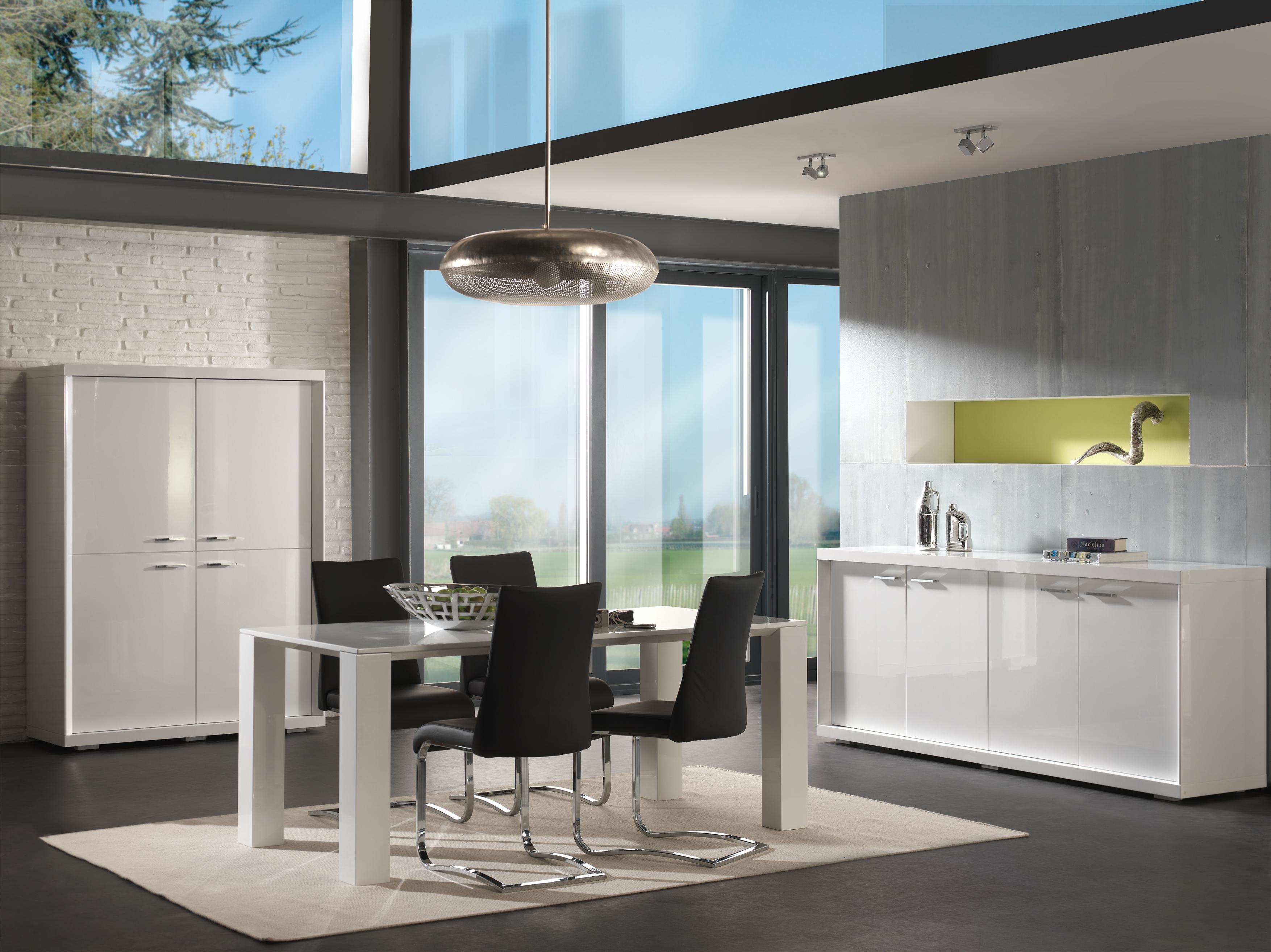 Eetkamer Wit Hoogglans : Eetkamer y kw meubelen joremeubelen jore